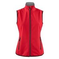 Softshell bodywarmer dames rood