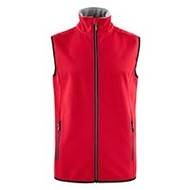 Softshell bodywarmer heren rood