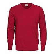 Sweater v-neck mannen rood