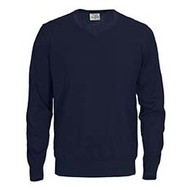 Sweater v-neck mannen marine