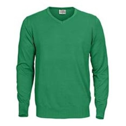 Sweater v-neck mannen frisgroen