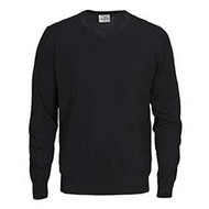 Sweater v-neck mannen zwart