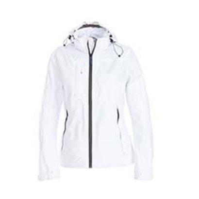 Sportieve regenjas voor dames in wit