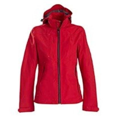 Sportieve regenjas voor dames in rood