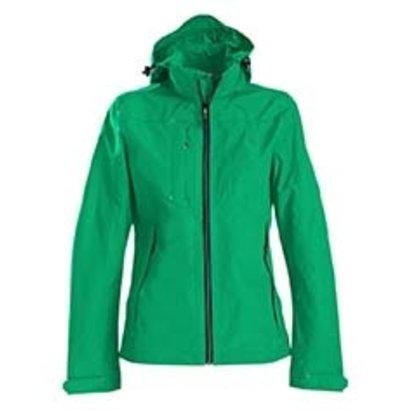 Sportieve regenjas voor dames in frisgroen