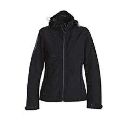 Sportieve regenjas voor dames in zwart