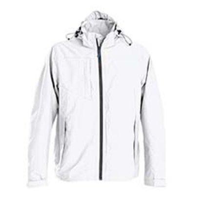 Sportieve regenjas voor heren in wit