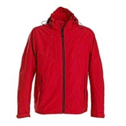 Sportieve regenjas voor heren in rood
