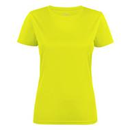 T-shirt dames polyester fluogeel