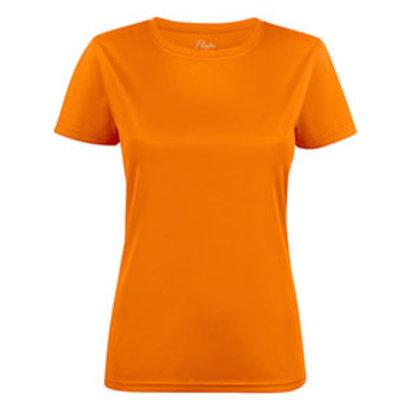 Polyester sportshirt voor dames feloranje