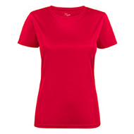 T-shirt dames polyester rood