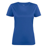 T-shirt dames polyester blauw