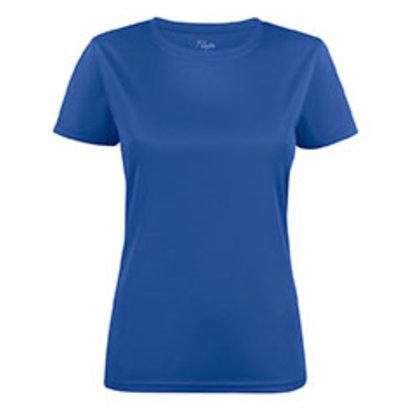 Polyester sportshirt voor dames blauw