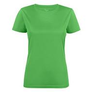 T-shirt dames polyester limoen