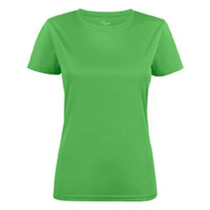 Polyester sportshirt voor dames limoen