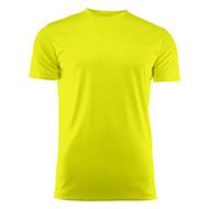 T-shirt heren polyester fluogeel