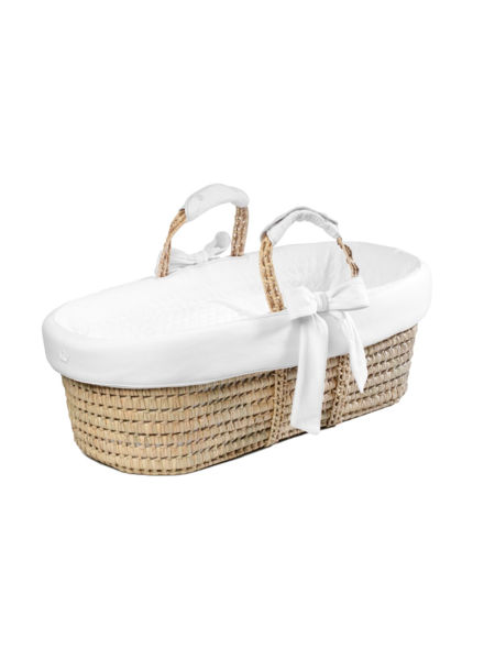 FIRST Wicker Moses basket Crystal White First