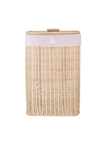 Théophile & Patachou Natural wicker basket Blush Pink Theophile & Patachou