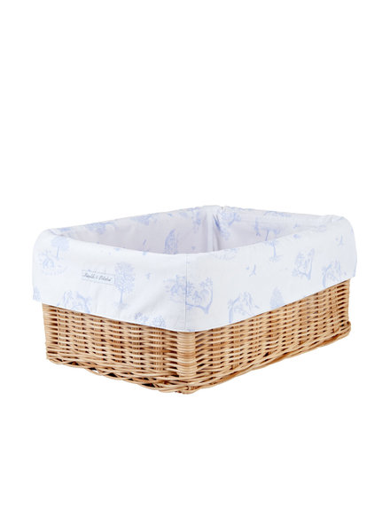 Théophile & Patachou Small wicker basket Sweet Blue Theophile & Patachou