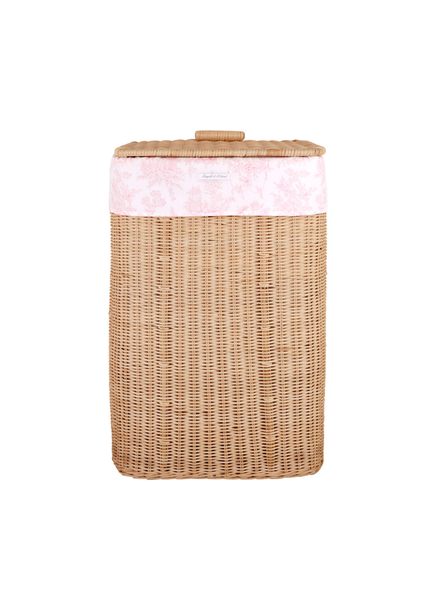 Théophile & Patachou Natural wicker basket Sweet Pink  Theophile & Patachou
