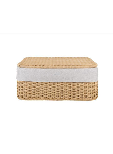 Théophile & Patachou Small wicker basket Soft Grey  Theophile & Patachou