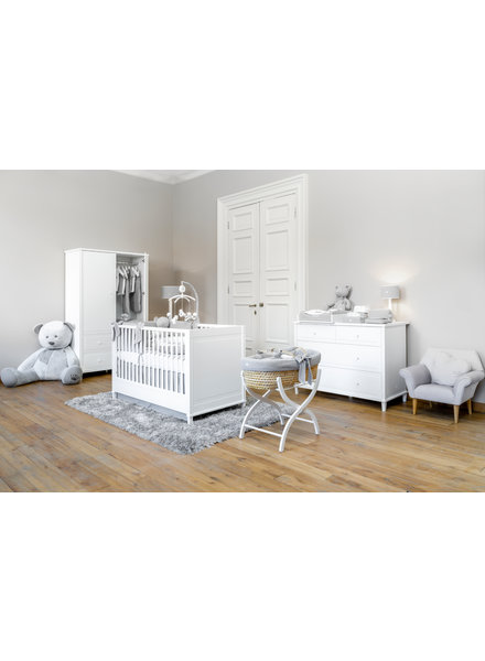 Myfirstcollection Baby room Bed + changing table + Cupboard GIO white Myfirstcollection.