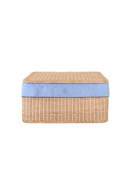 Théophile & Patachou Small wicker basket Blue Jeans  Theophile & Patachou