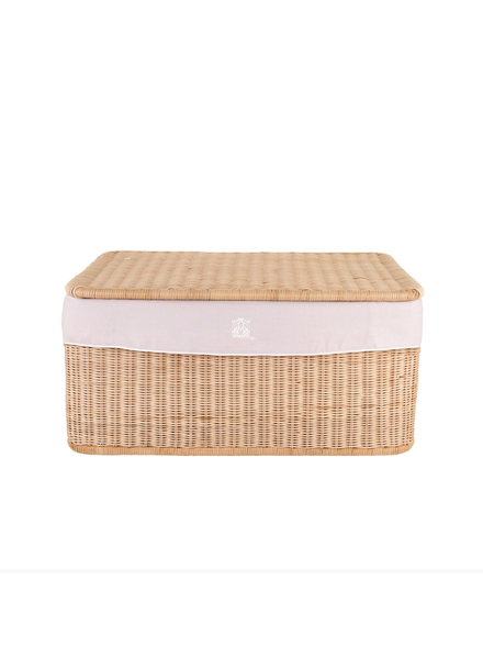 Théophile & Patachou Large wicker basket Blush Pink  Theophile & Patachou