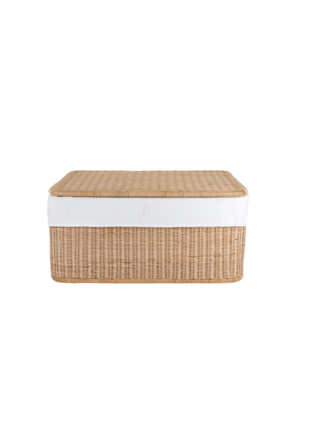 Théophile & Patachou Small wicker basket Royal White  Theophile & Patachou