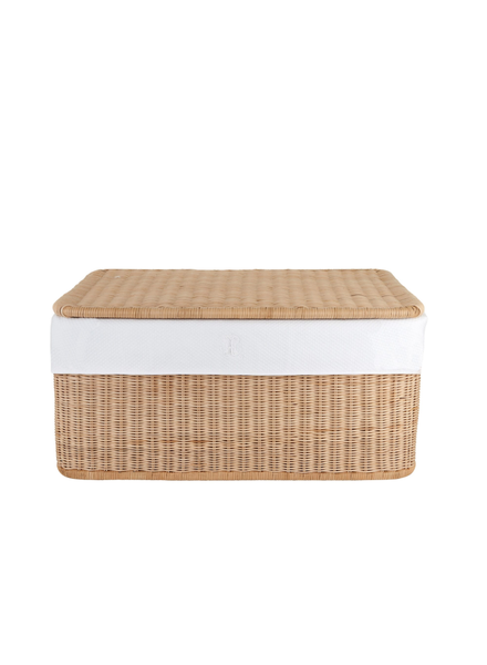 Théophile & Patachou Large wicker basket Royal White  Theophile & Patachou