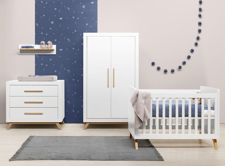 BOPITA FENNA 3-PART BABY ROOM WHITE / NATURAL