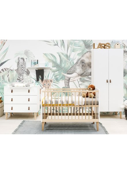 BOPITA INDY 3-PART BABY ROOM WHITE / NATURAL