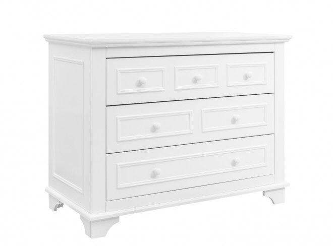 BOPITA CHARLOTTE WHITE CHEST WITH 3 DRAWERS