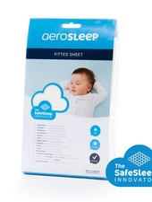AEROSLEEP Aerosleep Fitted sheet Cot 60 x 120 White