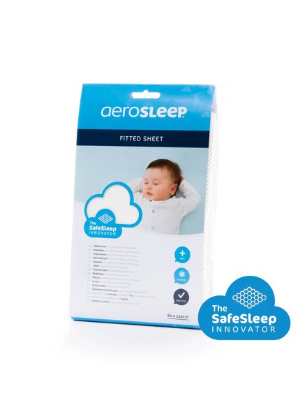AEROSLEEP Aerosleep Drap-housse Lit bébé 60 x 120 Blanc