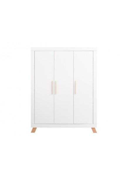 BOPITA 3-DOOR WARDROBE LISA WHITE / NATURAL