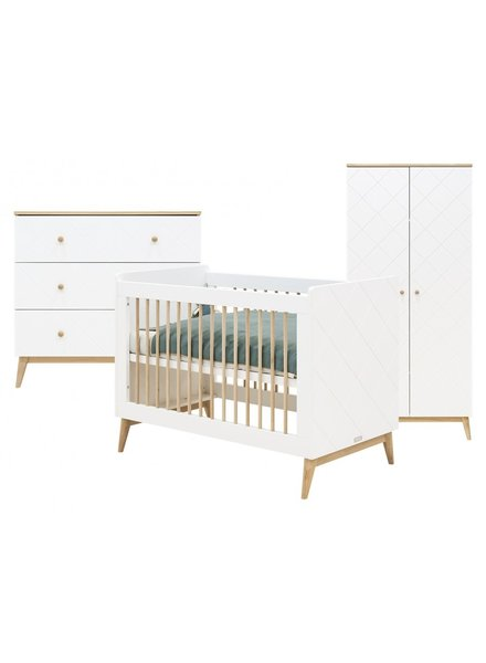 BOPITA PARIS 3-PART BABY ROOM WHITE / OAK