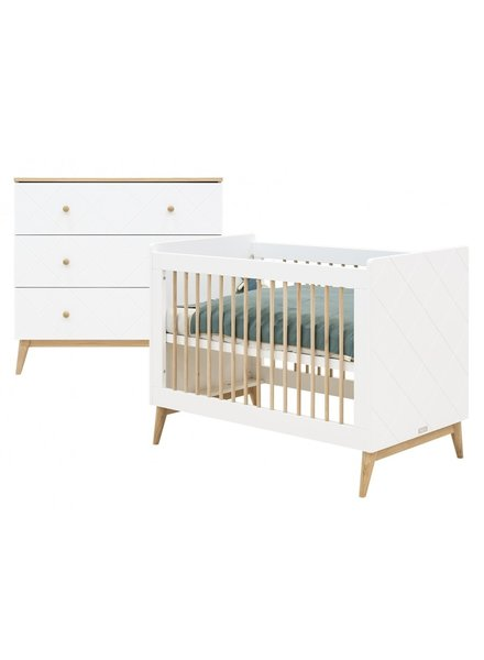 BOPITA PARIS 2-PIECE NURSERY WHITE / OAK