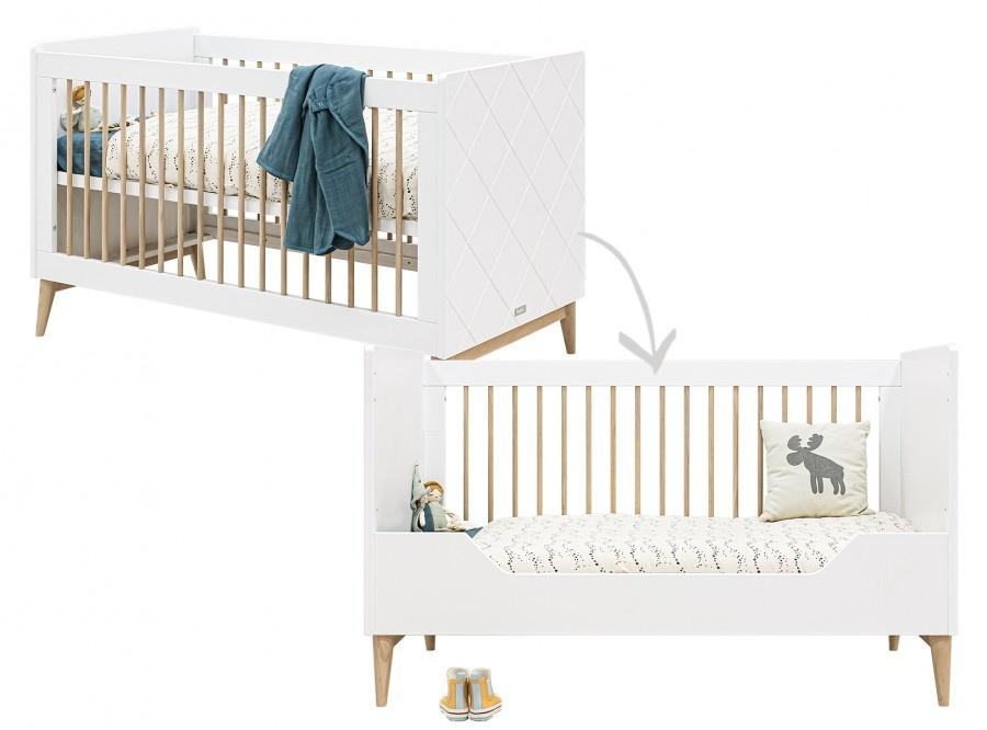 BOPITA SOFA BED 70X140 PARIS WHITE / OAK