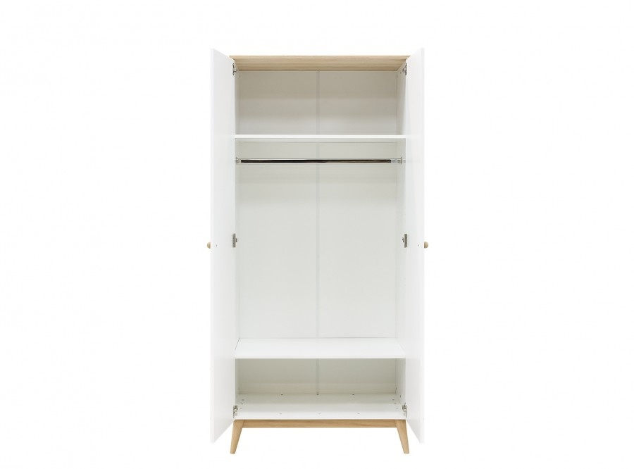 BOPITA 2-DOOR WARDROBE PARIS WHITE / OAK