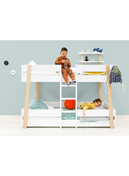 BOPITA BUNK BED 90X200 LISA WHITE / NATURAL
