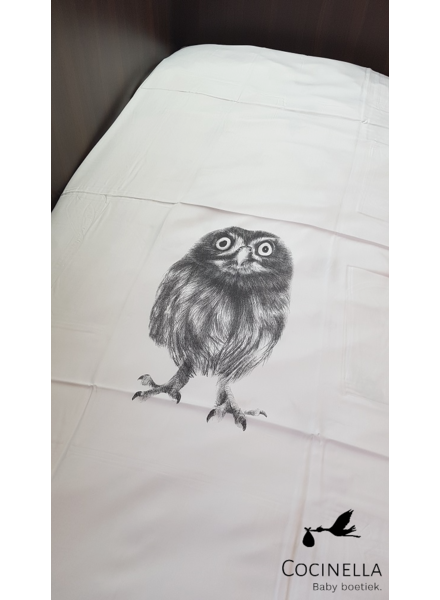 Miss princess Duvet cover bed 1 person Tencel owl