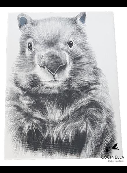 Miss princess Housse de couette lit 1 personne Tencel wombat