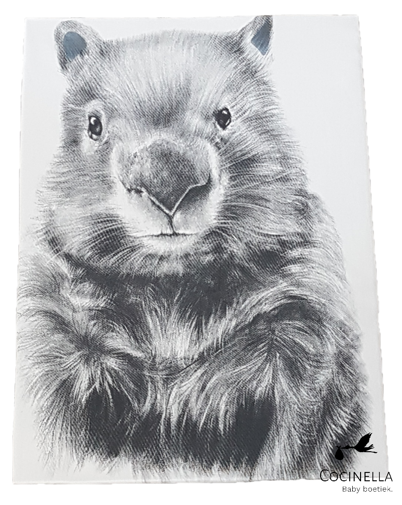Miss princess Duvet cover bed 1 person Tencel wombat
