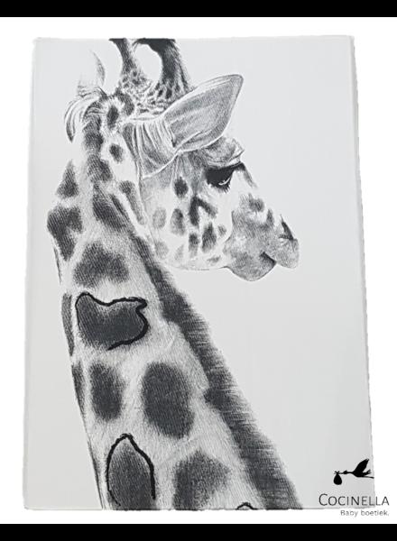 Miss princess Housse de couette lit 1 personne Tencel girafe