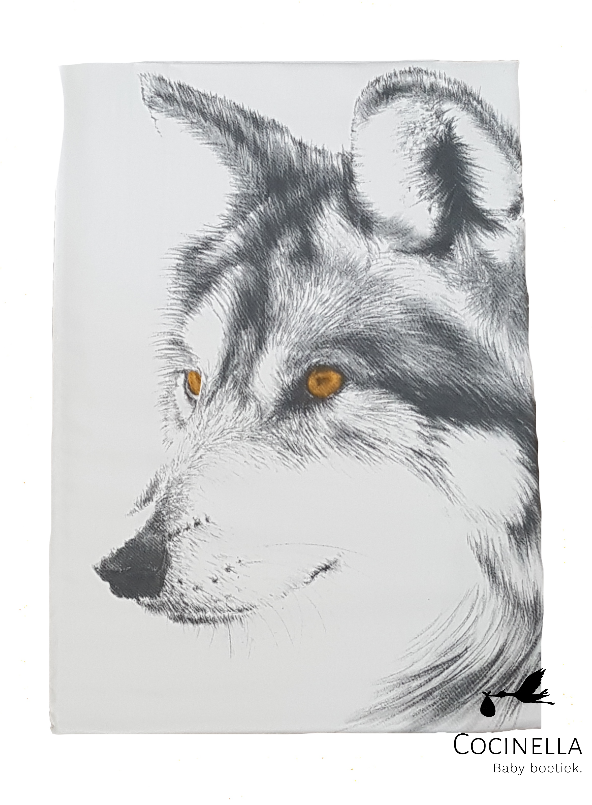 Miss princess Duvet cover bed 1 person Tencel wolf