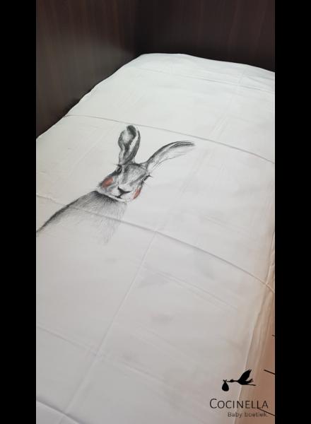 Miss princess Donsovertrek bed 1 persoon Tencel  konijn