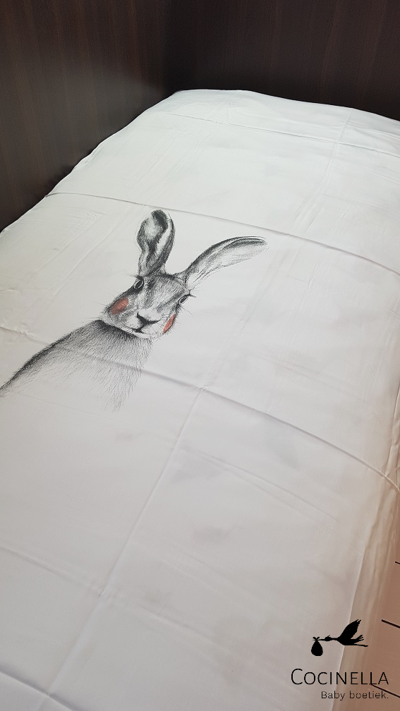 Miss princess Duvet cover bed 1 person Tencel rabbit