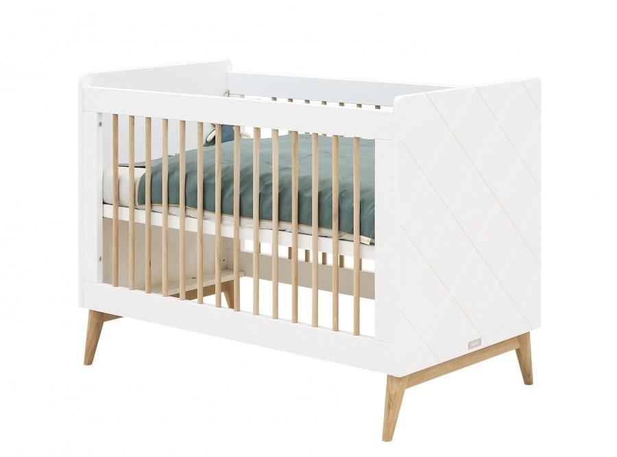 BOPITA BED 60X120 PARIS WIT/EIKEN