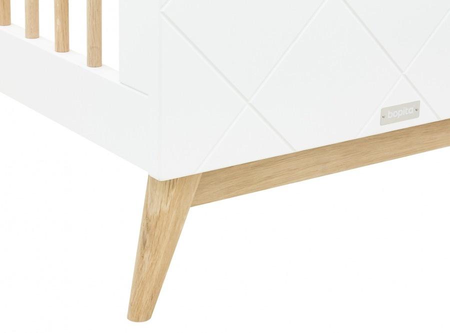 BOPITA BED 60X120 PARIS WHITE/OAK